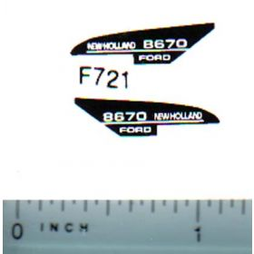 Decal 1/64 New Holland 8670 Hood Stripe