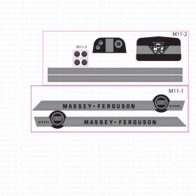 Decal 1/16 Massey Ferguson 1080 Diesel Set