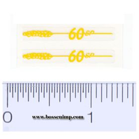 Decal 1/16 Massey Harris Combine 60 SP Model Number,  Yellow (pair)