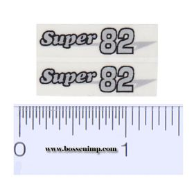 Decal 1/16 Massey Harris Combine Super 82 Silver, Black Outline (pair)