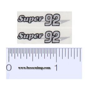 Decal 1/16 Massey Harris Combine Super 92 Silver, Black Outline (pair)