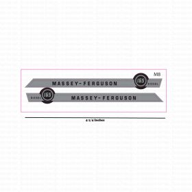 Decal 1/16 Massey Ferguson 165 Diesel Hood Stripes