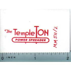 Decal 1/16 Minneapolis Moline Model Templeton Power Spreaders
