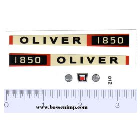 Decal 1/16 Oliver 1850 Decal Set