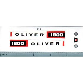 Decal 1/16 Oliver 1800 Set