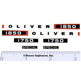 Decal 1/16 Oliver 1750, 1850 Special Set