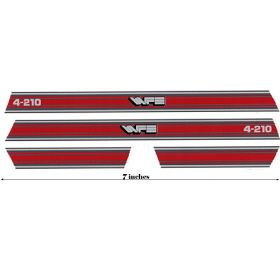 Decal 1/16 White 4-210 Red Hood & Cab Stripes