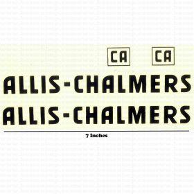 Decal Allis Chalmers CA Pedal Tractor Water Transfer