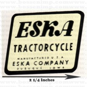 Decal Eska Logo tractorcycle Water Transfer