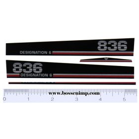 Decal 1/16 Versatile 836 Designation 6 Hood Set