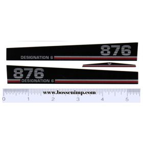 Decal 1/16 Versatile 876 Designation 6 Hood Set