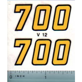 Decal 1/16 Versatile 700 Series 2 Mo. # (early)