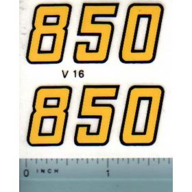Decal 1/16 Versatile 850 Series 2 Mo. # (early)
