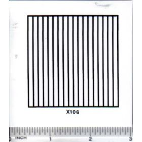 Decal Grille black 2 1/4 inch