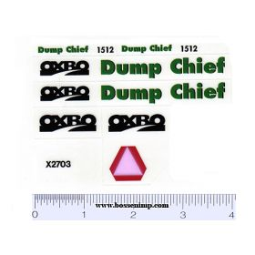 Decal 1/20 Oxbo 1512 Dump Cart Set