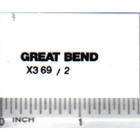 Decal 1/16 Great Bend - Black