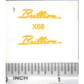 Decal 1/16 Brillion - Yellow