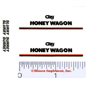 Decal 1/64 Clay Honey Wagon (Pair)