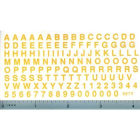 Decal Alphabet Set Yellow 3/16 in