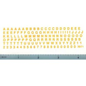 Decal Alphabet Set (yellow)