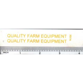 Decal 1/16 Quality Farm Equipment - Yellow