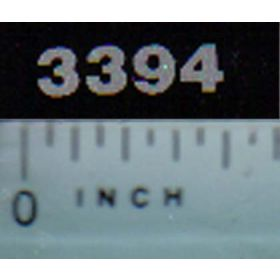 Decal 1/16 Case IH 3394 Model Numbers (silver on black)