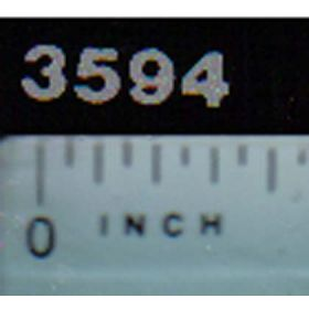 Decal 1/16 Case IH 3594 Model Numbers (silver on black)