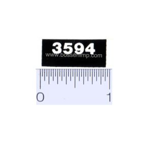 Decal 1/16 Case 3594 Model Numbers (white on black)