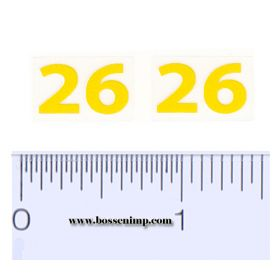 Decal 26 Yellow (pair)
