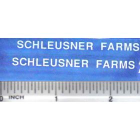 Decal 1/16 Schleusner Farms - White