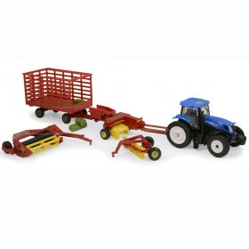 1/64 New Holland T7.270 MFD Haying Set