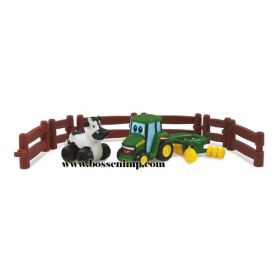 Johnny Tractor disc and cow playset