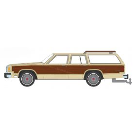1/64 Ford LTD Country Squire Wheat with Wood Paneling Series 1