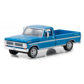 1/64 Ford Pickup F-100 1970 with long bed blue