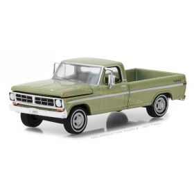 1/64 Ford Pickup F-100 1970 with long bed lime gold metallic