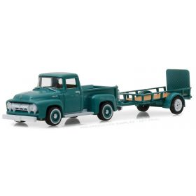 1/64 Ford F-100 Pickup 1954 with Utility Trailer Series 13
