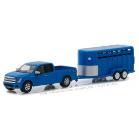 1/64 Ford Pickup F-150 2016 with Livestock Trailer  Series 14