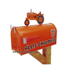 Mailbox Rural Style Allis Chalmers with AC WD-45 Tractor Topper