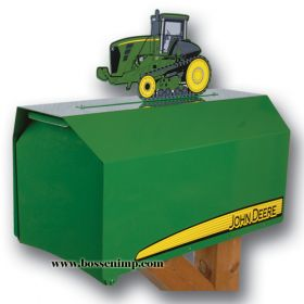 Mailbox Estate Style John Deere with 9000T Tractor Topper