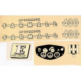 Decal Farmall 400 Pedal Tractor Decal set Water Transfer