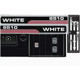 Decal AGCO-White 6510 Pedal Tractor