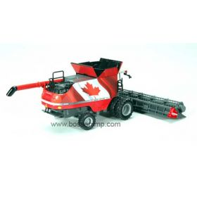 1/64 Massey Ferguson Combine 9565 with Grain head & Canadian Flag Wrap