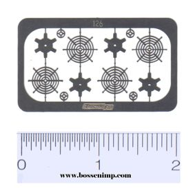 1/64 Grain Bin Fans & Screen Set of 4 Photo Etched