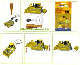 1/128 Caterpillar Crawler w/Dozer Blade and Ripper Key Chain