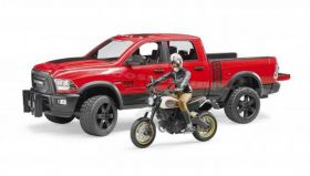 1/16 Dodge Ram 2500 Pickup with Dirt Bike & Rider