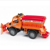 1/16 Mercedes Benz Unimog Snow Plow Truck, plastic