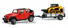 1/16 Jeep Wrangler Unlimited Rubicon with trailer & CAT Skid Loader