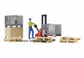 1/16 Accessory Set, Forklift w/pallets & wire baskets