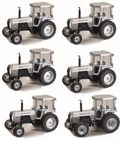 1/64 White 2-105 2WD with cab TTT 36th Anniversary Caston of 6