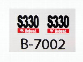 Decal 1/50 Bobcat S-330 sside panels